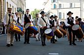 France, Provence Alpes Cote D'Azur, Bouches du Rhône (13), Arles, Republique square, Costume festivity