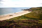 France, Brittany, Cotes d'Armor (22), Erquy, Cap d'Erquy, Lourtuais beach