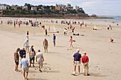 France, Brittany, Ille et Vilaine, Dinard, beach