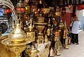Algeria, Algiers, Krim-Belkacem boulevard, antiquarian shop
