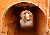 Algeria, Mzab, El Ateuf, veiled woman