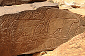 Algeria, Sahara, Grand Erg Occidental, Taghit, Barrebi rock art