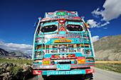 Indian truck, Padum, Zanskar Range Traverse, Zanskar Range, Zanskar, Ladakh, India