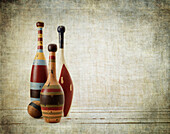 Old Fashioned Wooden Bowling Pins