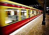 Blurred Train, Berlin, Germany