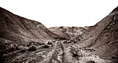 Trail Through Arid Mountain Landscape, Death Valley, California, USA