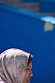 Muslim woman in the Bo Kaap Malay Quarter, Cape Town, West Cap, South Africa, Africa