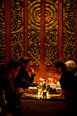 Restaurant impression with guests, restaurant Kitima, Hout Bay, Western Cape, South Africa, RSA, Africa
