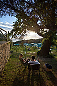 Picnic Ground of Restaurant Roundhouse, Camps Bay, Cape Town, Western Cape, South Africa, RSA, Africa