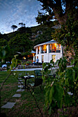 Impression at dusk at Restaurant Roundhouse, Camps Bay, Cape Town, Western Cape, South Africa, RSA, Africa