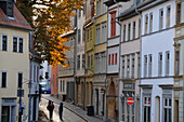 In the alleys of the old town, Vorwerksgasse, Weimar, Thuringia, Germany