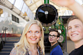 Students in the Transport Museum, Deutsches Museum, German Museum, Munich, Bavaria, Germany