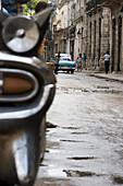 Old American car parked in street, Havana, Cuba