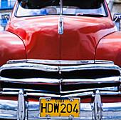 Full front detail of a Chevy, Havana, Cuba.