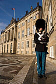 Guard outside Amalienborg Royal Palace, Copenhagen, Denmark