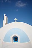 Whitewashed Greek chapel, Close Up, Akrotiri, Santorini