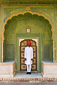 Palace guard at the City Palace, Jaipur, Rajasthan, India