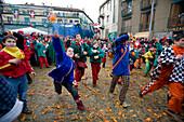 Battle during the Orange festival, Ivrea, Italy
