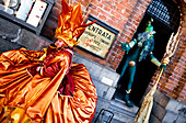 People wearing carnival costumes at Venice Carnival, Venice, Venetto, Italy
