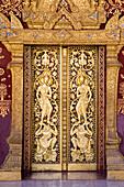 Detail of Buddhist temple, Luang Prabang, Laos.