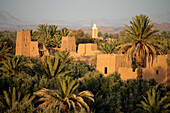 Rooftops of kasbah in Skoura Oasis, Dades Valley, Morocco