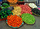 Vegetables in market, Mexico City, Mexico