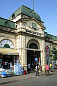 The entrance gate of the colonial style Mercado Central, Central Market, in Maputo