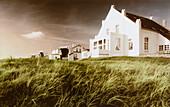 Villa Belvedere in the sunlight, Norderney island, East Frisian Wadden Sea, East Friesland, North Sea, Lower Saxony, Germany, Europe