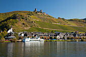 Thurant castle in the sunlight, Alken, Moselle river, Rhineland-Palatinate, Germany, Europe