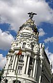 Edificio Metropolis Building at Gran Via, Madrid, Spain
