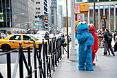 People Dressed As Muppets In Midtown Manhattan, Midtown Manhattan, New York, USA