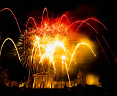 Fireworks at Philadelphia museum of art, Philadelphia, Pennsylvania, USA