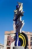 Sculpture by Roy Lichtenstein, Barcelona, Catalonia, Spain