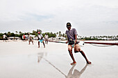 Fishermen catch up fishing net, Uppuveli, tamil province, Sri Lanka