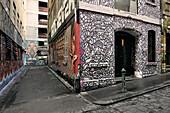 Graffiti at houses, street art, Melbourne, Vicoria, Australia