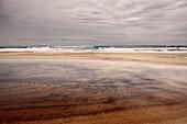 Coastline of Fraser Island in a dark mood, Queensland, Australia, Southern Pacific