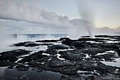 Alofaafa Blowholes, lava fields,  south coast, Savaii, Samoa, Southern Pacific island