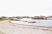 Coastal landscape and beach at Skaerhamn, Tjoern Island, Bohuslan, Sweden