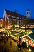 Christmas market, Freiburg im Breisgau, Black Forest, Baden-Württemberg, Germany