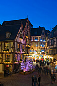 Christmas market and historic quarter, Colmar, Alsace, France