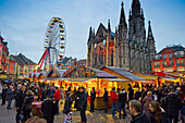 Christmas market and historic quarter, Mulhouse, Alsace, France