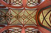 Vault inside of St. Wendelinus' basilica, St. Wendel, Saarland, Germany, Europe