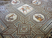 Roman mosaique floor at Perl-Nennig, Saarland, Germany, Europe