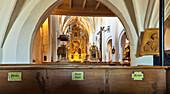 Abbey church, Frauenchiemsee abbey, Chiemsee, Chiemgau, Upper Bavaria, Germany