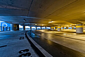 Modern architecture, car park at Hamburg airport, Hamburg, Germany