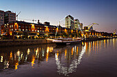 Puerto Madero, old recycled docks with bars and restaurants, Buenos Aires, Argentina