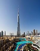 U A E -Dubai City-january 2010 Burj Dubai Bldg  World´s tallest Bldg.