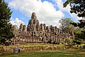 Cambodia-No  2009 Siem Reap City Angkor Temples W H  Bayon Temple within Angkor Thom.
