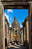 Cambodia-No  2009 Siem Reap City Angkor Temples W H  Bayon Temple.