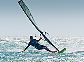 20's, 30's, adult, board, horizontal, Man, mid adult, outdoor, sail, sailboarding, sea, speed, sport, water, wind, windsurf, windsurfer, windsurfing, young, young adult, A75-1292235, AGEFOTOSTOCK